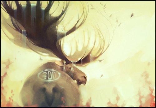 elk__the_forest_spirit_by_gaudibuendia